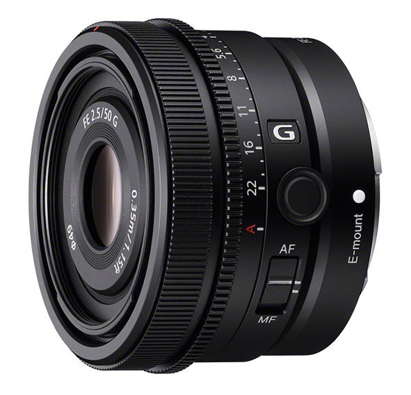 Il nuovo Sony FE 50mm F2.5 G per le mirrorless full frame